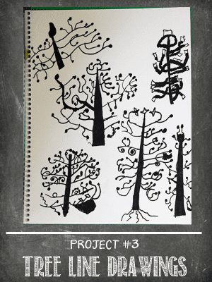 The Sketchbook Project Lesson # 3 Trees