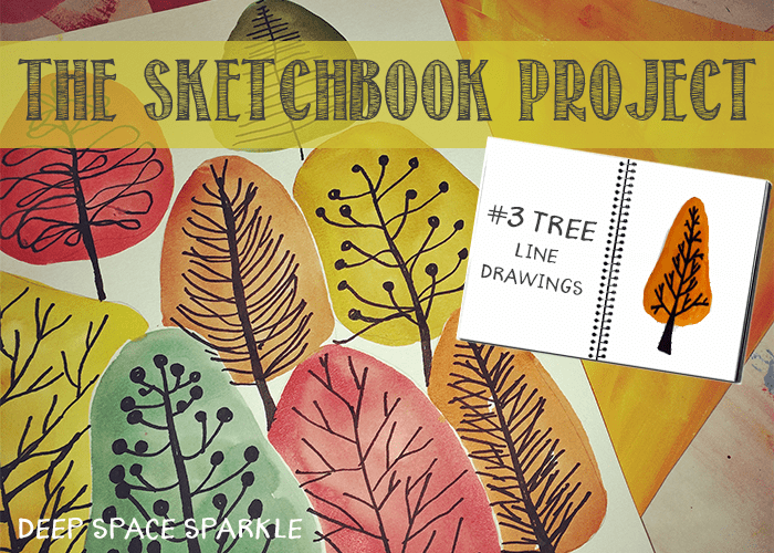 The Sketchbook Project #3: Tree Line Drawings