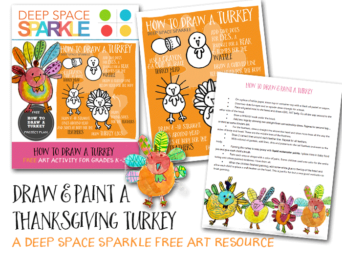 How to draw and paint a thanksgiving turkey. Art activity for kids