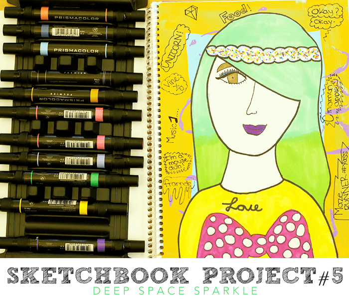Sketchbook Project #5: Expressive Self-Portraits