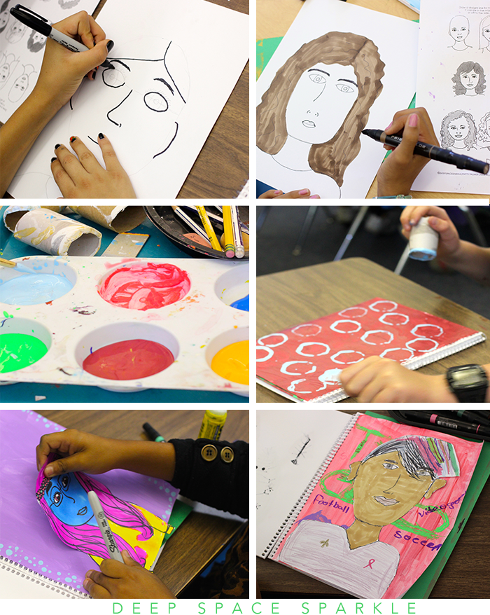 The Sketchbook Project by Deep Space Sparkle: Drawing Expressive Self Portraits