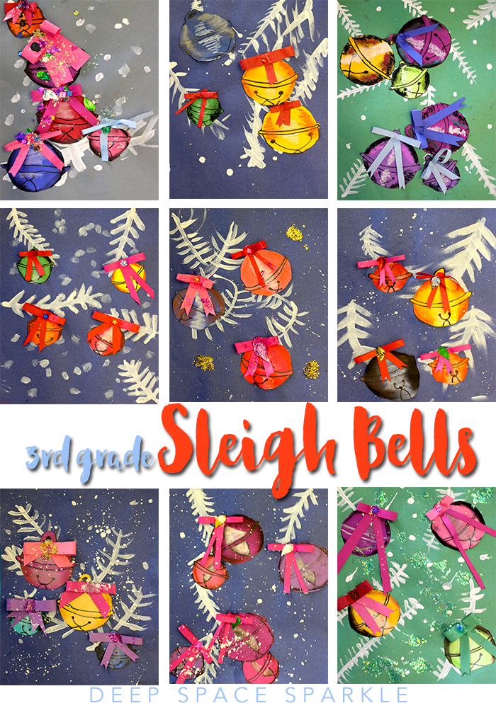 elementary christmas craft ideas sleigh bell project space sparkle 4395
