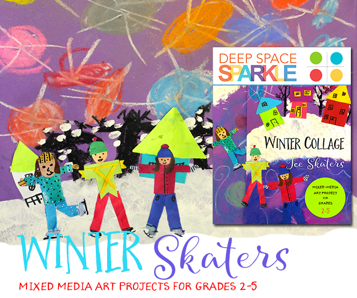 Winter Skaters Art Project