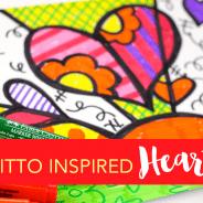 Romero Britto-Inspired Hearts