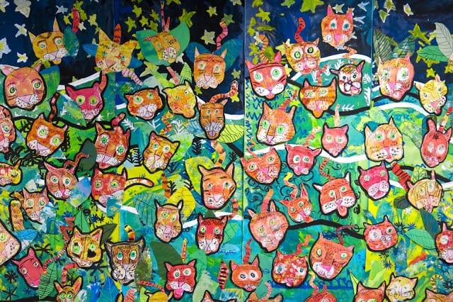 Create a jungle-theme mural (Cassie Stephens)