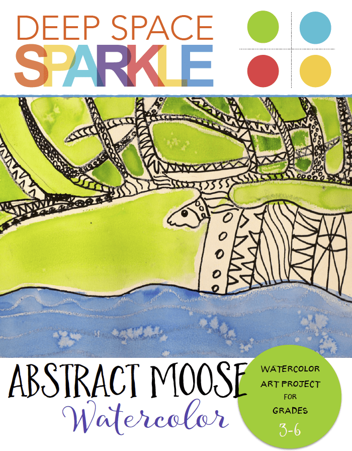 Abstract Moose Art Project with Patterns