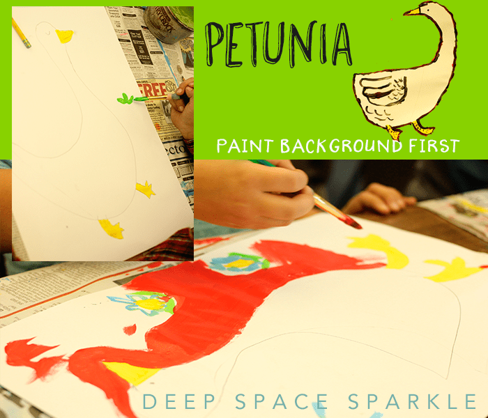 Combine a literary classic, petunia, with a cool painting technique. Happiest project ever.