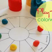 Play Doh Colorwheel Activity