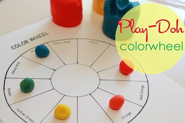 How to teach COLOR to kids: Play Doh Colorwheel Art Project