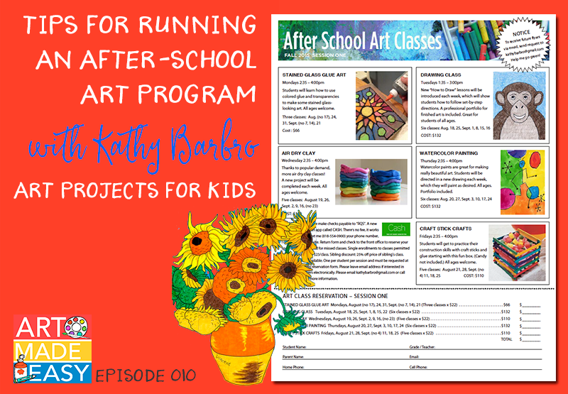 Kathy Barbro from Art Projects for Kids speaks with Patty Palmer on Art Made Easy about her after school art program