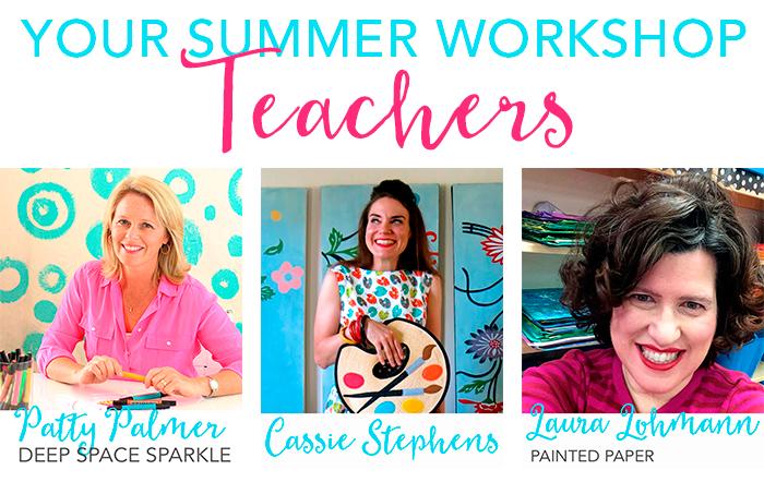Deep Space Sparkle Summer Art Workshop teachers