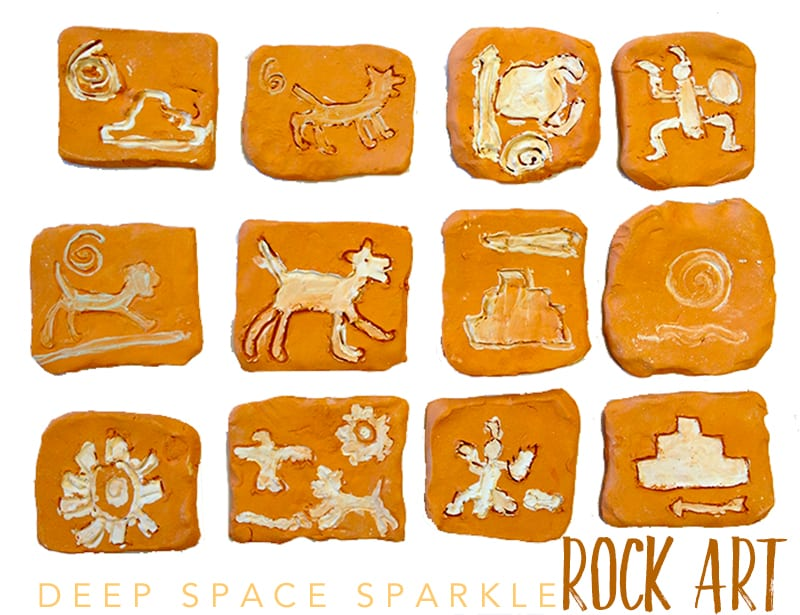 Rock paintings art project for kids