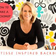 Matisse-Inspired Backdrop