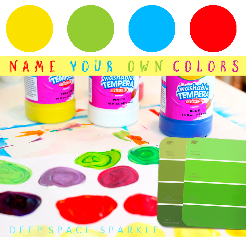 Learn how to mix your own colors for kids art projects