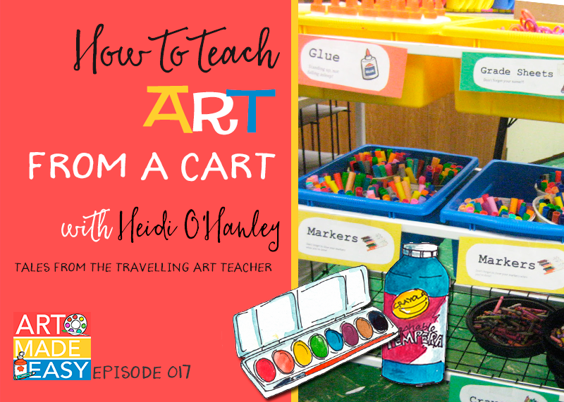 Tips for teaching art from a cart with Heidi O'Hanley from Tales of the Traveling Art Teacher