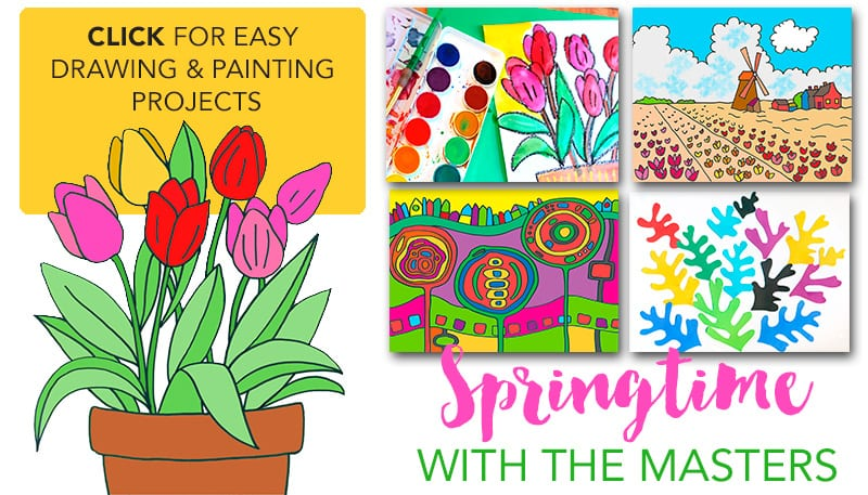 Easy Spring Art Projects For Kids That Feature The Masters