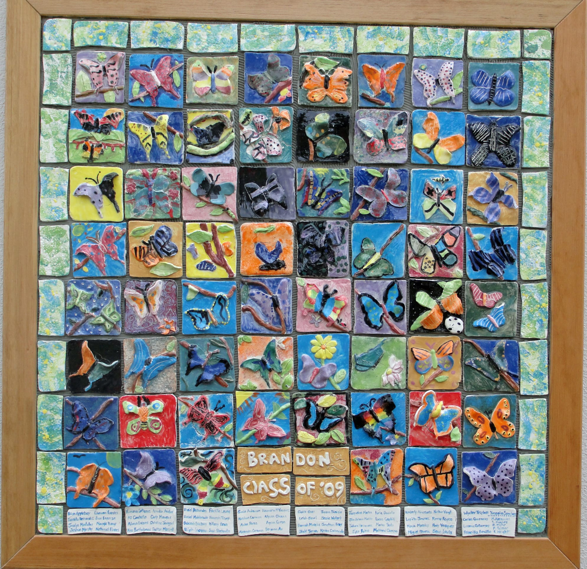 Butterfly ceramic tile mural art project fro kids | Deep Space Sparkle