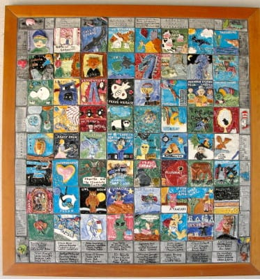 Literature Inspired ceramic tile mural