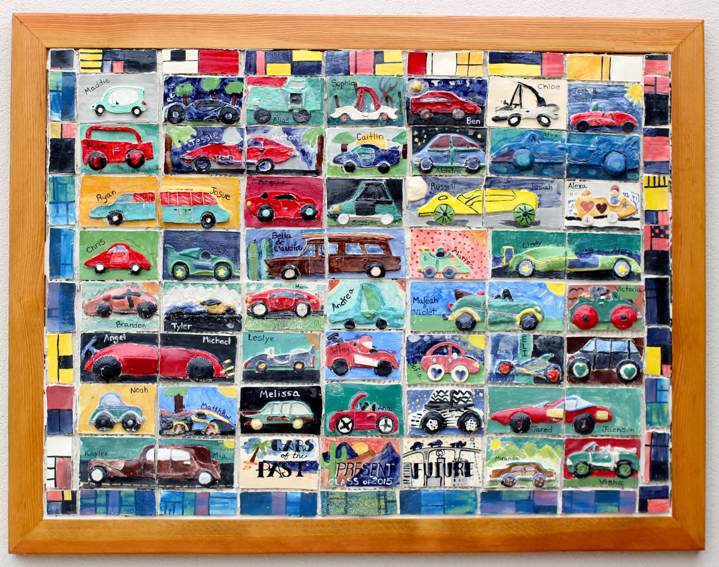 Cars past present future collaborative ceramic tile mural cars past present future collaborative ceramic tile mural project for kids doublecrazyfo Images