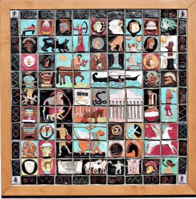 Ancient Greece ceramic tile mural art project