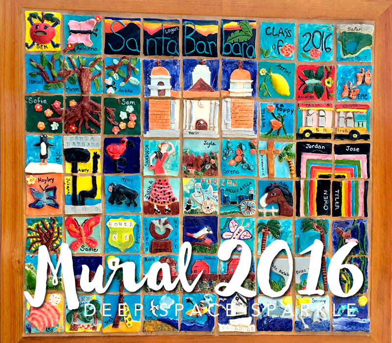 Santa Barbara Ceramic Tile Mural: Collaborative Art Project for Kids
