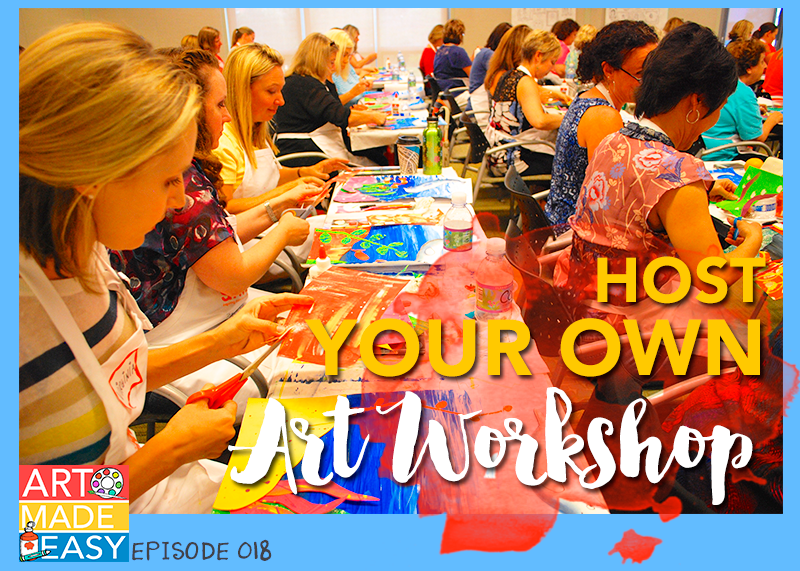 How to host your own art workshop-Art Made Easy 018