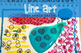 Easy Watercolor Line Art for Kids