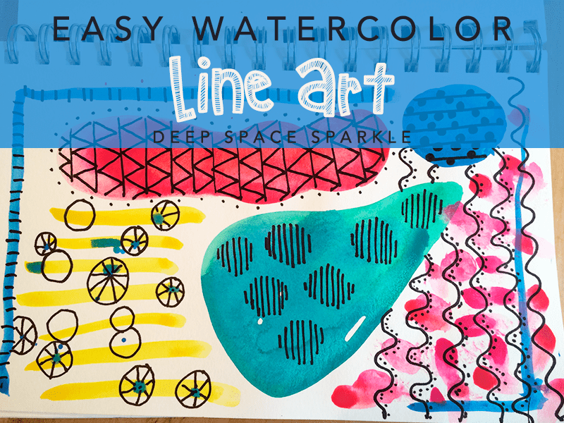 Easy Watercolor Line Art Project for Kids