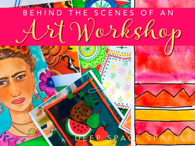 Behind the Scenes of an Art Workshop…