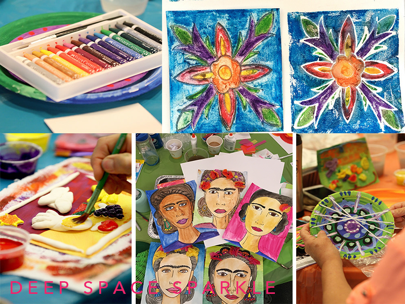 Faber-Castell Children's art supplies at the Deep Space Sparkle workshop