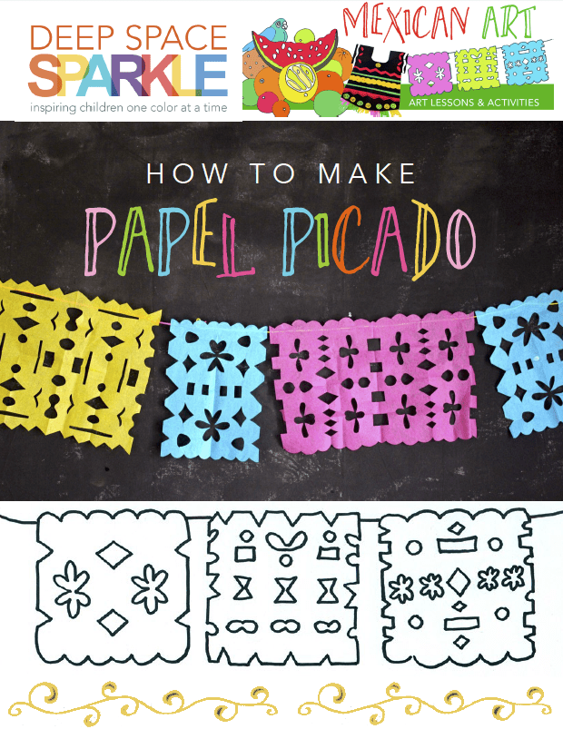 Easy to make Papel Picado for kids