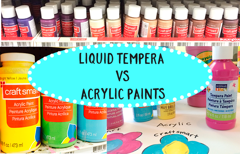 Tempera vs Acrylic Paint