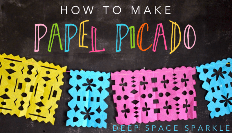 How to make a papel picado deep space sparkle for Papel picado template for kids