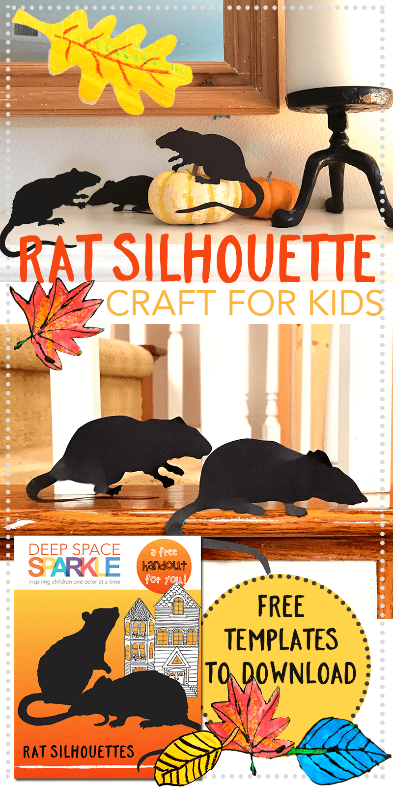 Rat Silhouette Template Craft for kids