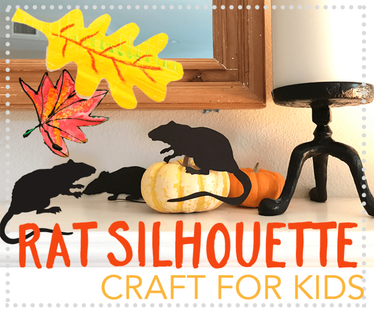 Rat Silhouette Template & Craft