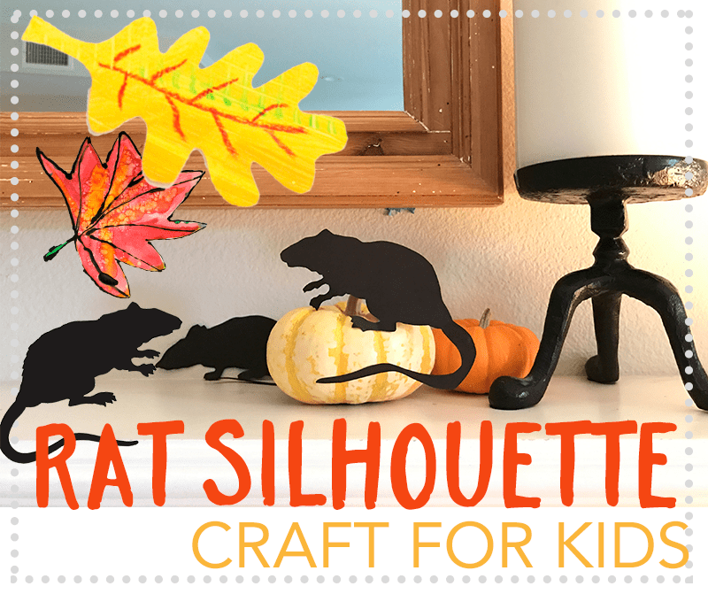 Rat Silhouette Craft for kids
