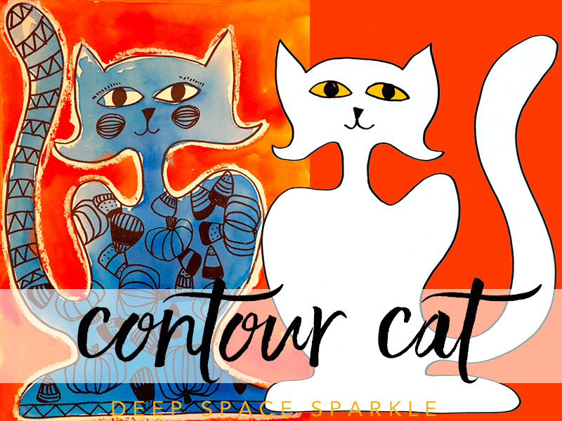 Free Contour Cat Art Project