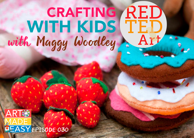 Art Made easy talks to Maggy Woodley of the blog, Red Ted Art and how she created such a successful brand.