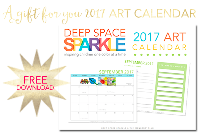 Free 2017 Art Calendar + Lesson Planner for art teachers