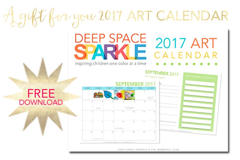Free 2017 Art Calendar + Lesson Planner for art teachers