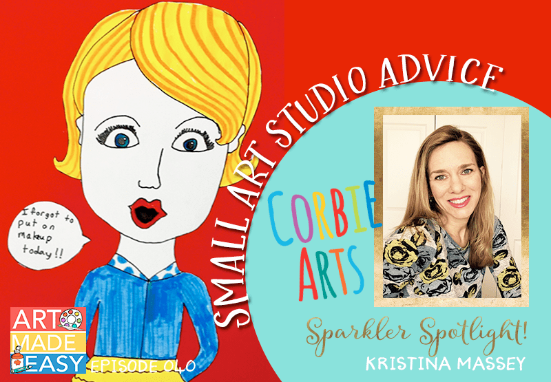 Sparkler Spotlight: Kristina Massey Art Made Easy interviews small art studio owner and offers growth advice