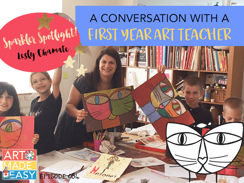 A conversation with a first year art teacher: Art Made Easy Interview with Sparkler Lesly Chamate