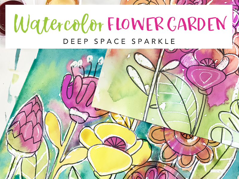 HOW TO DRAW A FLOWER GARDEN Video and handout