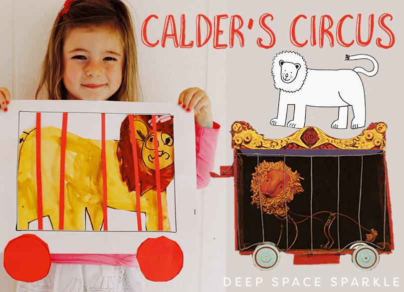 Circus Car Lion PreK and kinder art project