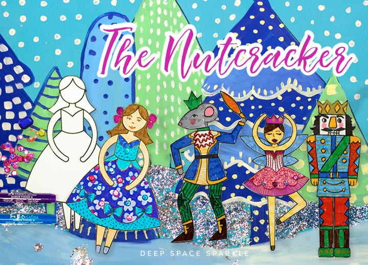 nutcracker art lesson for kids with templates