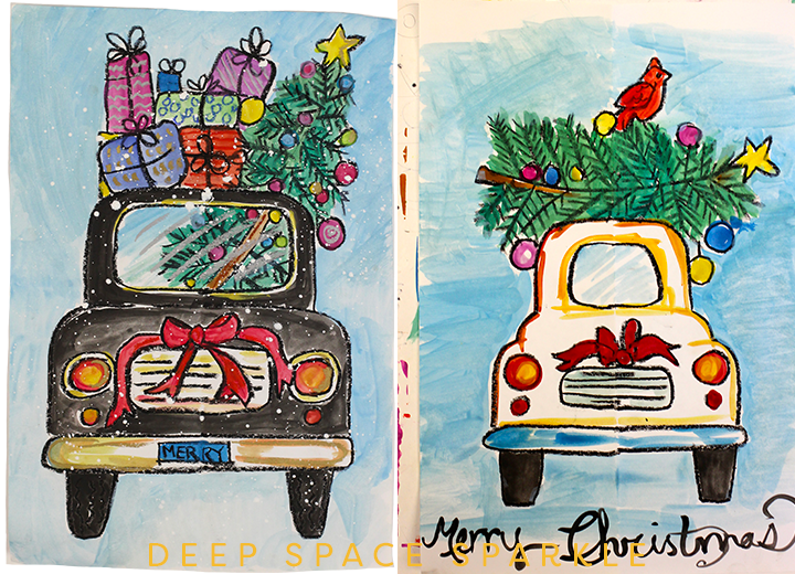 Draw a Christmas Car: Holiday Art Project for Kids