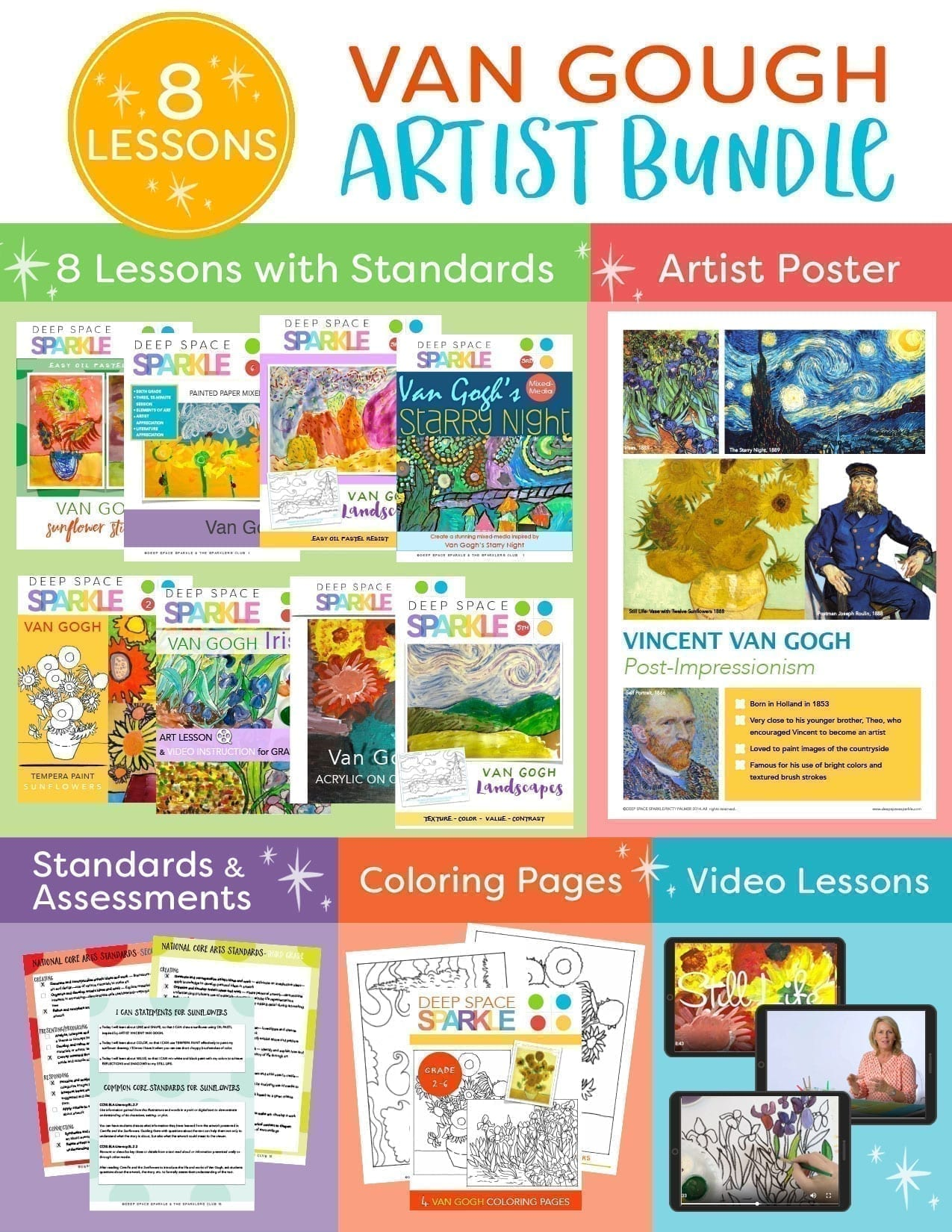 Van Gogh Artist Bundle: Art Projects for Kids