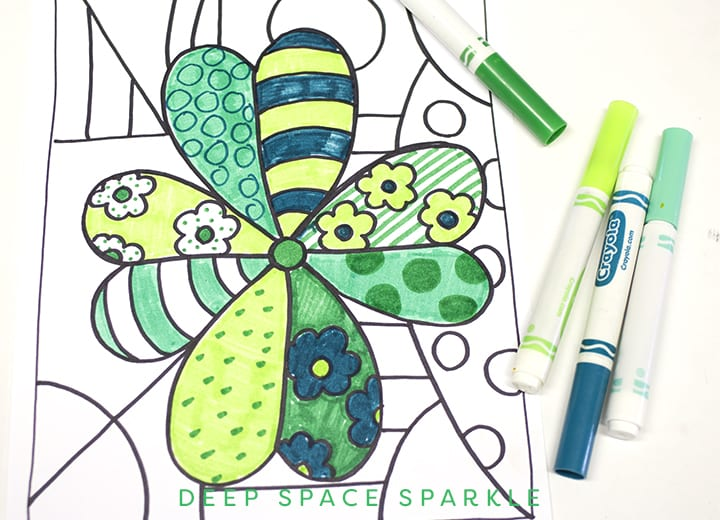 St. Patrick's Day Art Project- coloring the art