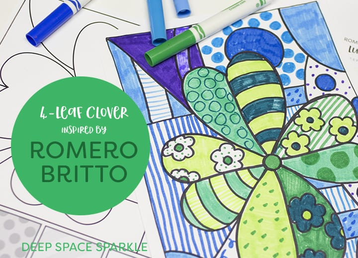 Romero Britto Inspired St.Patrick's day Art Project