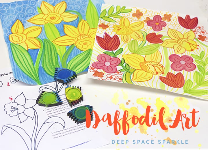 Spring Daffodils Art Project Deep Space Sparkle